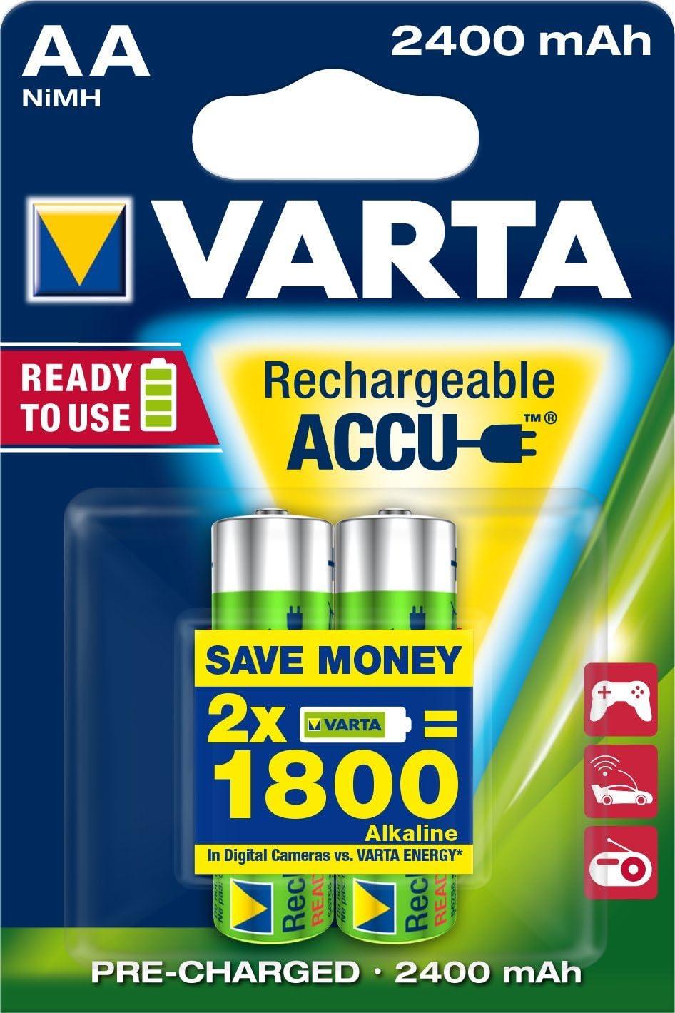 Varta 1090 56756 2400 Mah Accu Aa Mignon Battery Elektronik