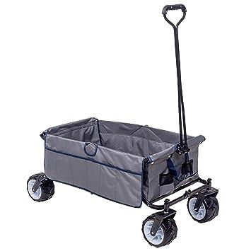 WOLTU Bollerwagen faltbar Handwagen Strandwagen mit Dach 80 kg belastbar TW003tsg 4 Rollen mit Bremse f/ür den Garten Camping Kinder