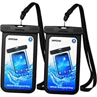 Mpow Waterproof Case, Universal IPX8 Waterproof Phone Pouch Clear Dry Bag Compatible with iPhone Xs/XS Max/XR/X/8/8 Plus/7/7 Plus, Galaxy S10/S9/S8 Google Pixel and All Devices up to 6.5""