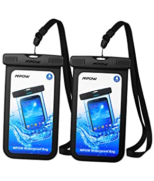 Mpow Funda Impermeable Móvil, IPX8 Bolsa Impermeable para Móvil Universal de 6.5 Pulgadas para iPhone 11/XR/XS/XS MAX/X/8/8 Plus/7/7 Plus,P9/P10, BQ ...