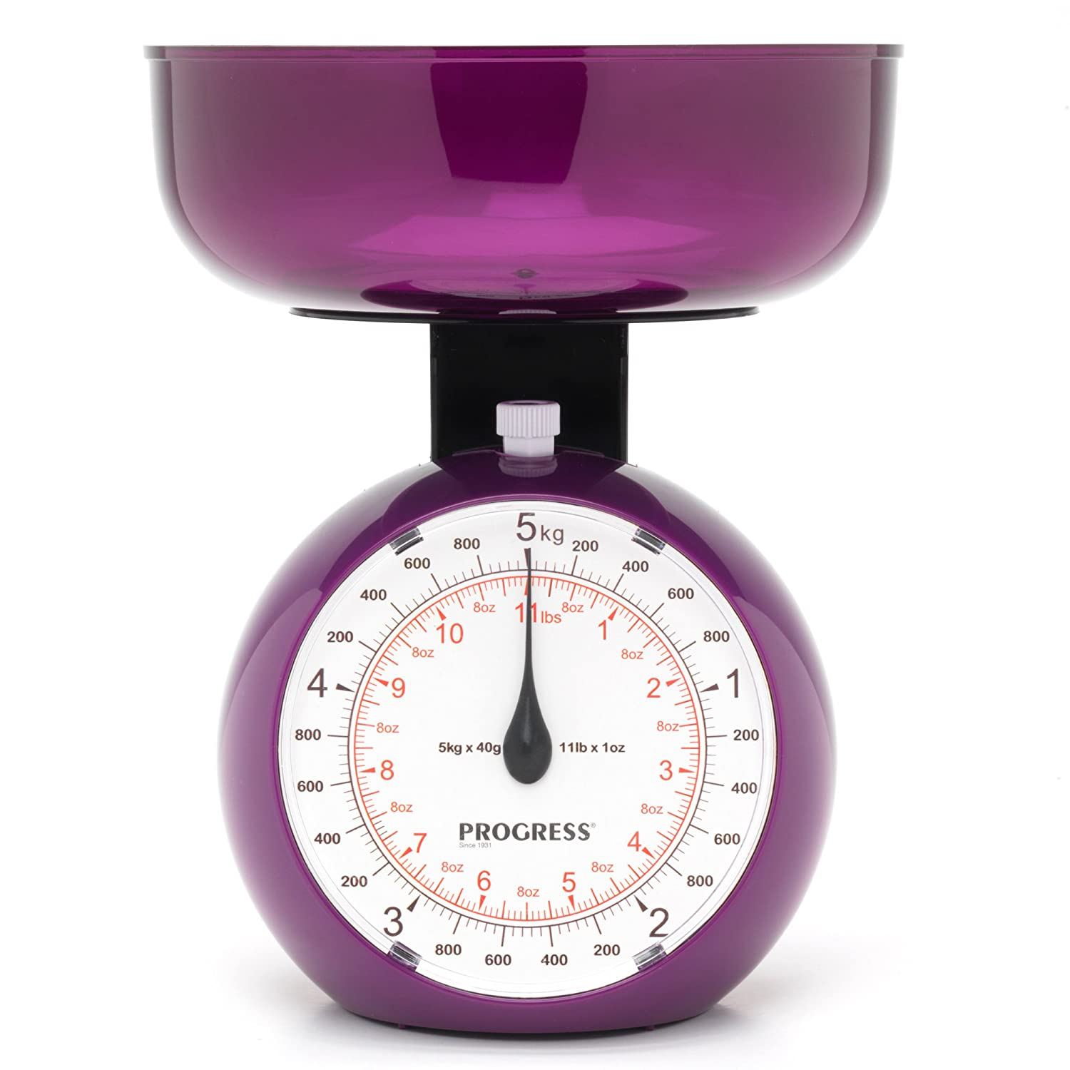 Progress BW04779P Orb Mechanical Kitchen Weighing Scale, 5 kg ...