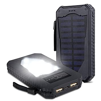 15000 mAh alta capacidad de energía solar cargador impermeable Panel Solar portátil de Backup Power Bank golpes Dual Puerto USB Cargador de batería ...