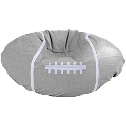 amazon com lazybaby pu leather rugby beanbags chair cover gray