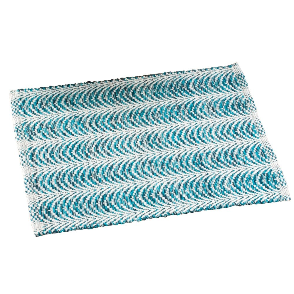 Collections Etc Reversible Harper Accent Rug, Blue, 20 X 30 20 X 30