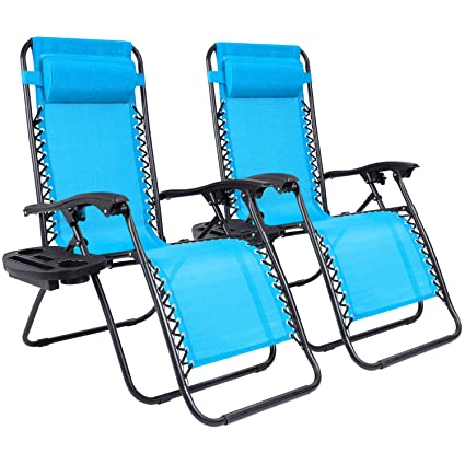 Terrific Homall Zero Gravity Chair Adjustable Folding Lawn Lounge Chair Padded Outdoor Lounge Gravity Chair Camp Lounge Chair With Pillow And Cup Holder Tray Machost Co Dining Chair Design Ideas Machostcouk
