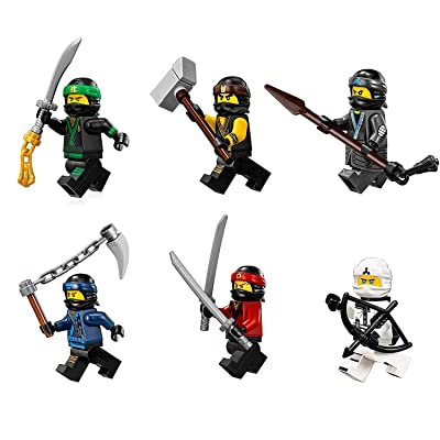 The LEGO Ninjago Movie Minifigure Combo Pack - Lloyd, Cole, Kai, Jay, Zane, and Nya (with Weapons): Toys & Games