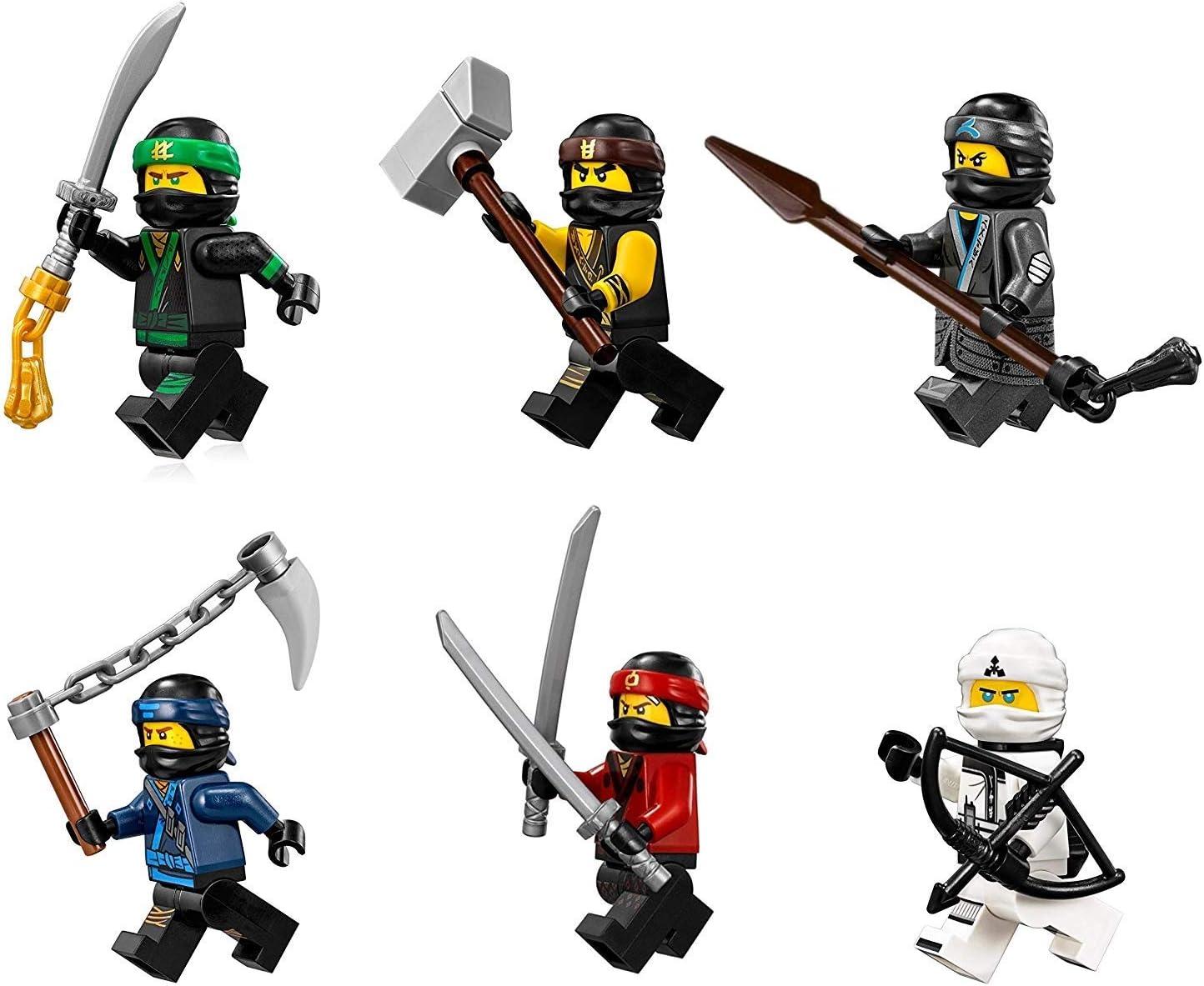 The LEGO Ninjago Movie Minifigure Combo Pack - Lloyd, Cole, Kai, Jay, Zane, and Nya (with Weapons)