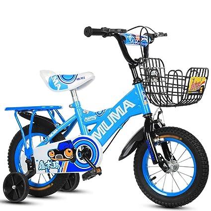 Bicicletas infantiles, aptas para niños y niñas con rueda auxiliar y asiento trasero de acero de ...