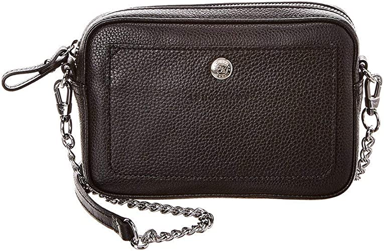 Longchamp Le Foulonne Leather Crossbody Shoulder Bag, Black ...