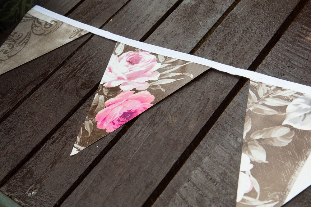 Create Your World d-c-Fix - Banderines de PVC (12 Banderas, 3,5 m, 21 x 18 x 3,5 m), Diseño Vintage: Amazon.es: Jardín
