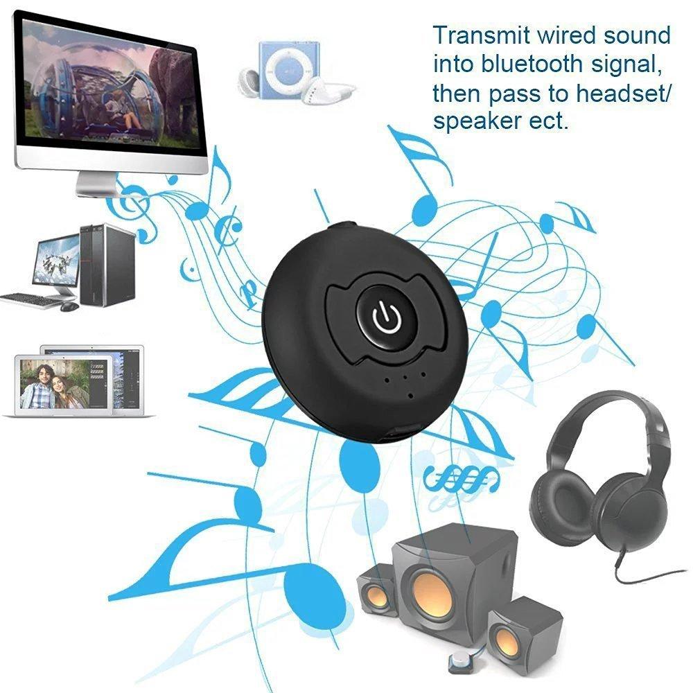 transmisor de m/úsica inal/ámbrico hbkj apoyo dos dispositivos Bluetooth 4,0 transmisor