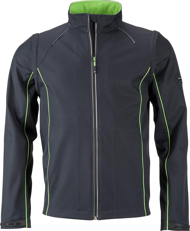 FaS501122 Herren Softshell Jacke Jacke Jacke mit abzippbaren Ärmeln Weste wasserdicht atmungsaktiv B01M9DLZ5M Jacken Kostengünstig 95d622