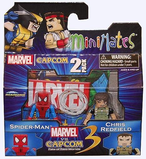 Marvel vs Capcom 3 Minimates Wave 2 Spider-Man vs Chris Redfield