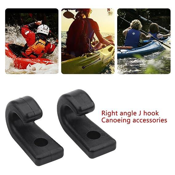 2x Kayak Boat Side Mount Handle Carry Handle Bungee Cord Screws J Hook Accessory
