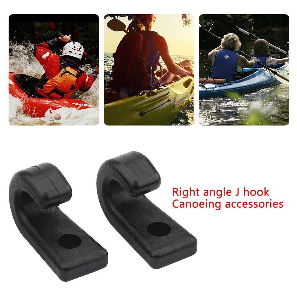 25Pcs Kayak Lashing Hooks Nylon Bungee Cord Hooks for Boat Canoe Paddle Board by VGEBY (Image #4)