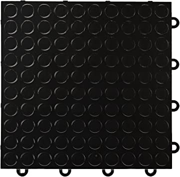 IncStores Nitro Garage Tiles 12x12 Interlocking Garage Flooring 1-12x12 Tile, Coin Gunmetal