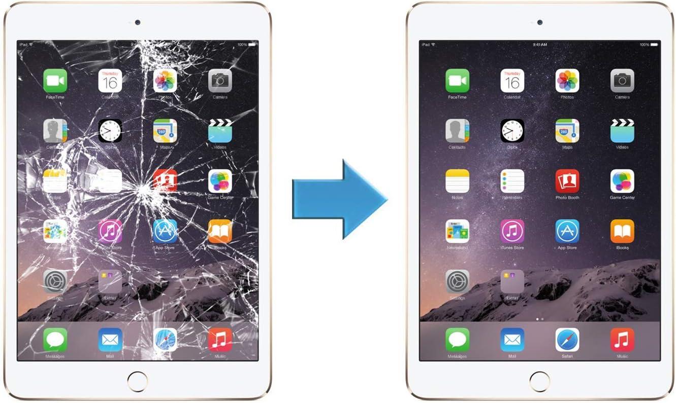 HDE Ersatz-Display f/ür iPad Mini 3 A1599 A1600 mit Reparatur-Werkzeugset und Touch-Sensetivit/äts-Digitizer Wei/ß wei/ß