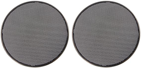 SimpleLif 1//2//3//4//5//6.5 Inch Speaker Grills Cover Case Round Grill Protective Speaker Decorative Circle Audio Accessories-ABS,Black
