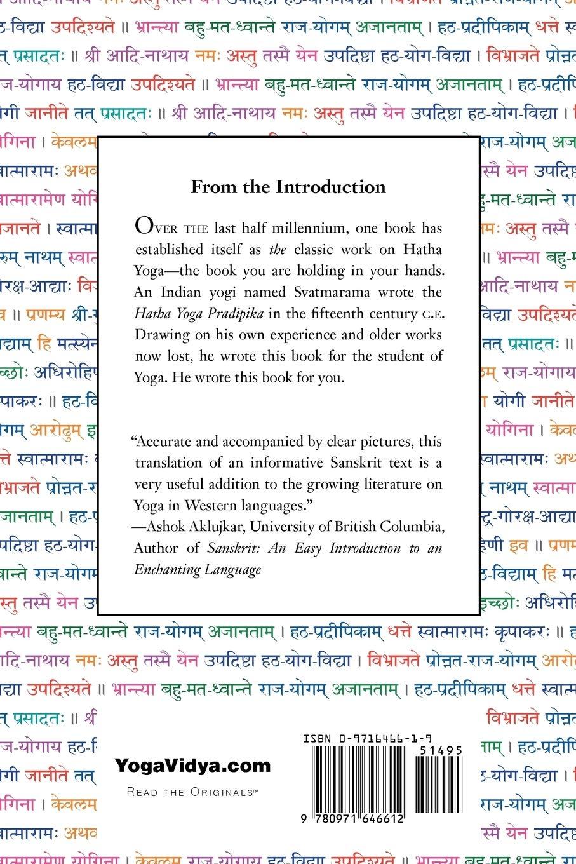 The Hatha Yoga Pradipika: The Original Sanskrit and An ...