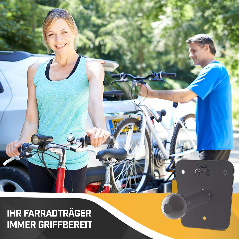 Domar Wandhalterung f/ür Fahrradtr/äger Praktische und universell passende Halterung f/ür jeden Fahrradhecktr/äger