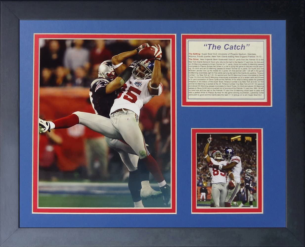 """David Tyree - The Catch 11"""" x 14"""" Framed Photo Collage by Legends Never Die, Inc."""