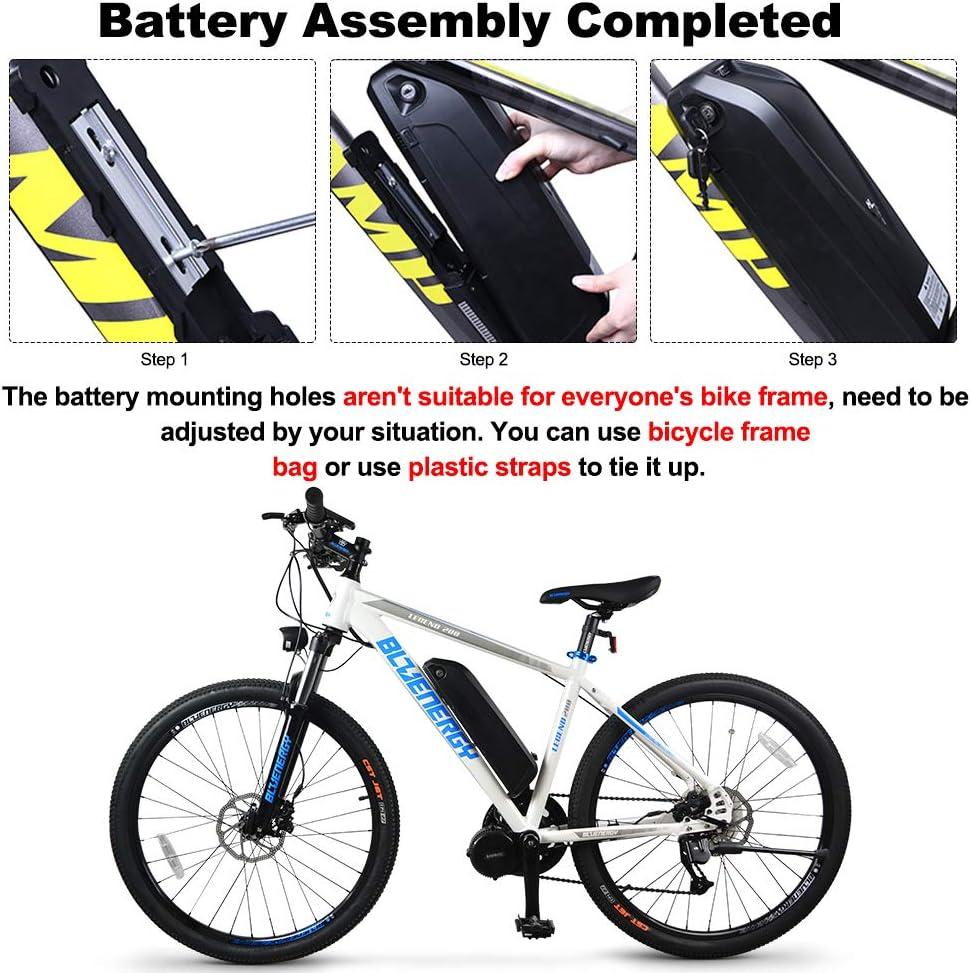 10Ah // 11.6Ah // 17.5Ah Junstar Ebike Battery Bater/ía de Litio-Litio de 48V con Puerto USB Compatible con Bafang Motor Central Ebike Kettle Bater/ía Rack Trasero Trasero