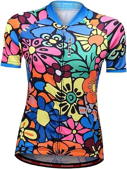 Toygogo Jerseys De Ciclismo con Diseño De Calavera para Mujer Camisas De Manga Corta Camisa De Ciclismo De Carreras Pantalones Cortos Bicicleta Bicicleta Chic: Amazon.es: Deportes y aire libre