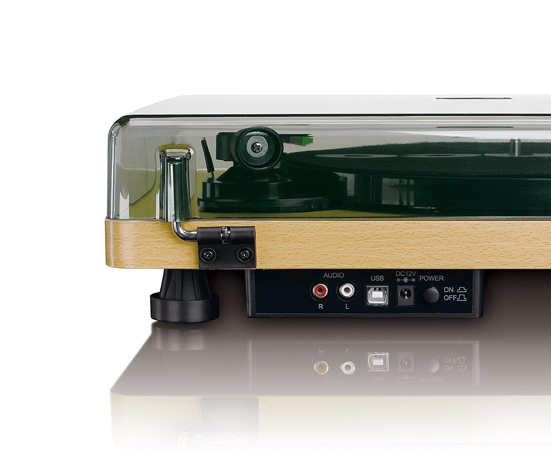 Tocadiscos LENCO L-30WD Madera, 33,45 rpm, Salida de línea RCA y ...