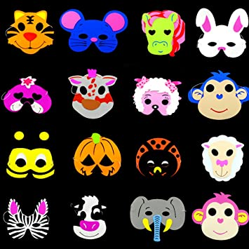 Mascarilla De Niño De Halloween Máscara De Animal De Dibujos Animados Máscaras De Espuma Animal Fiesta