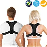 Posture Corrector for Men and Women, Adjustable Clavicle Brace,Improve Thoracic Kyphosis, Shoulder Support, Upper Back & Neck Pain Relief (REG 70cm - 110cm)