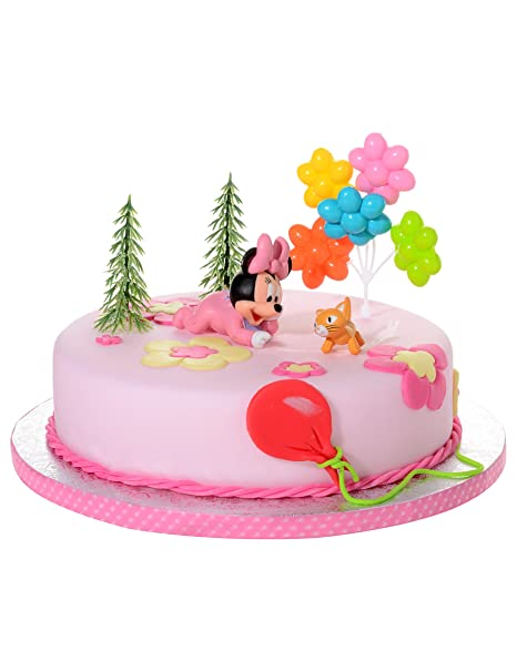 21908 Kit Decorazione Torta Minnie Baby Cake Design Bambina Festa