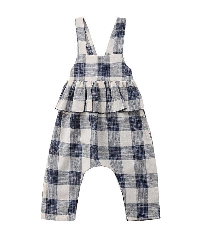 c84ea249e Amazon.com  Toddler Kids Baby Girl Stripes Bell-Bottom Jumpsuit ...