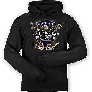 Overseas TourSmoking Eyes Harley-Davidson Men/'s Zippered Hoodie