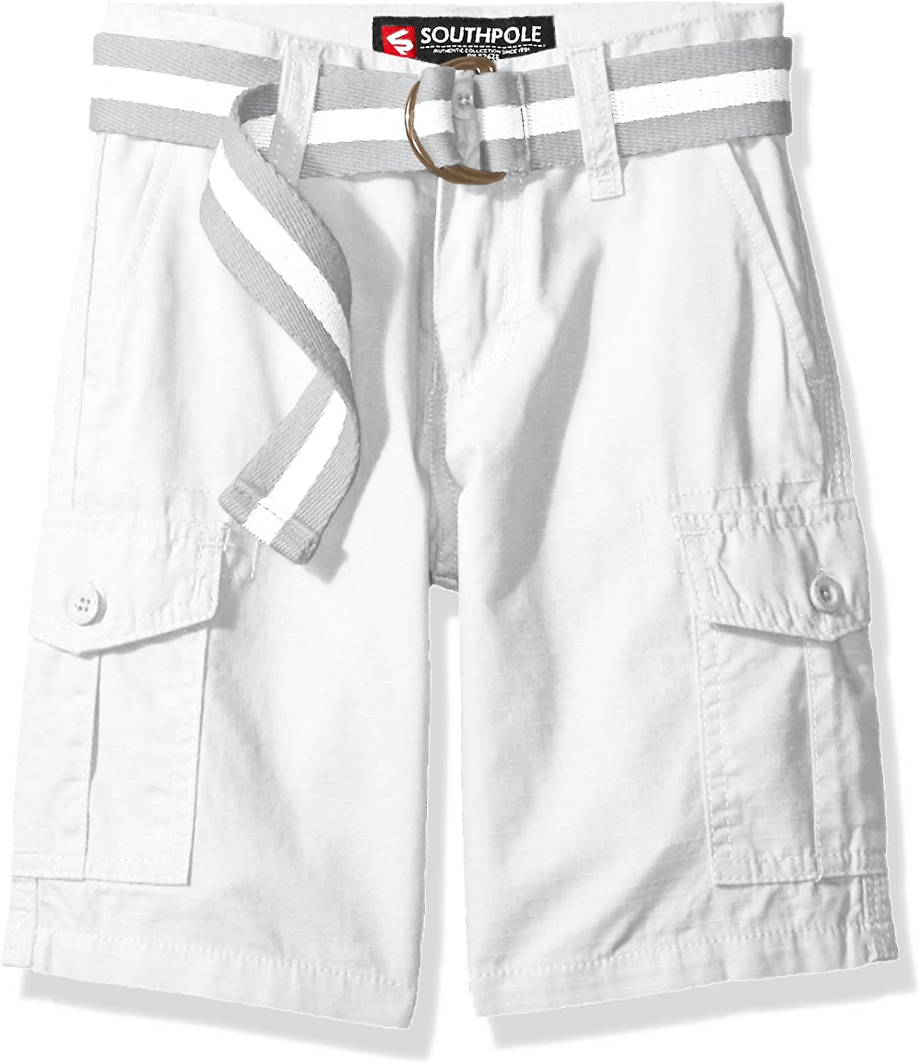 Southpole Boys Belted Ripstop Basic Cargo Short with Washing All Season