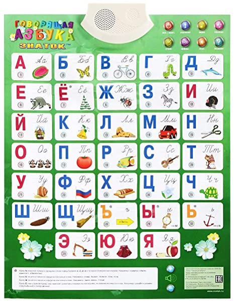 0942613576e Amazon.com: Russian Alphabet Electronic Mat / Azbuka by by ZNATOK: Toys &  Games