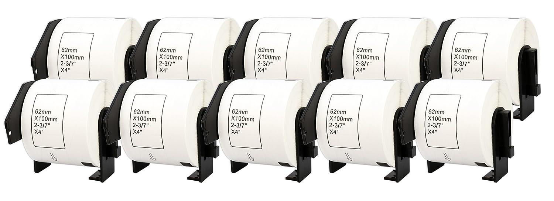 10x DK-11201 29 x x x 90 mm Adressetiketten (400 Stück Rolle) kompatibel für Brother P-Touch QL-1050 QL-1060N QL-1110NWB QL-1100 QL-500 QL-500BW QL-570 QL-580 QL-700 QL-710W QL-800 QL-810W QL-820NWB B074S2BCFC   Lebensecht  9976ef