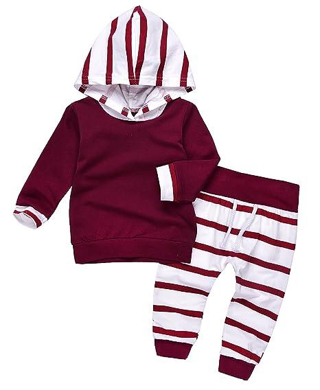59a811756006 Cute Newborn Baby Boy Girl Warm Hoodie T-Shirt Top + Pants Outfits Set Kids