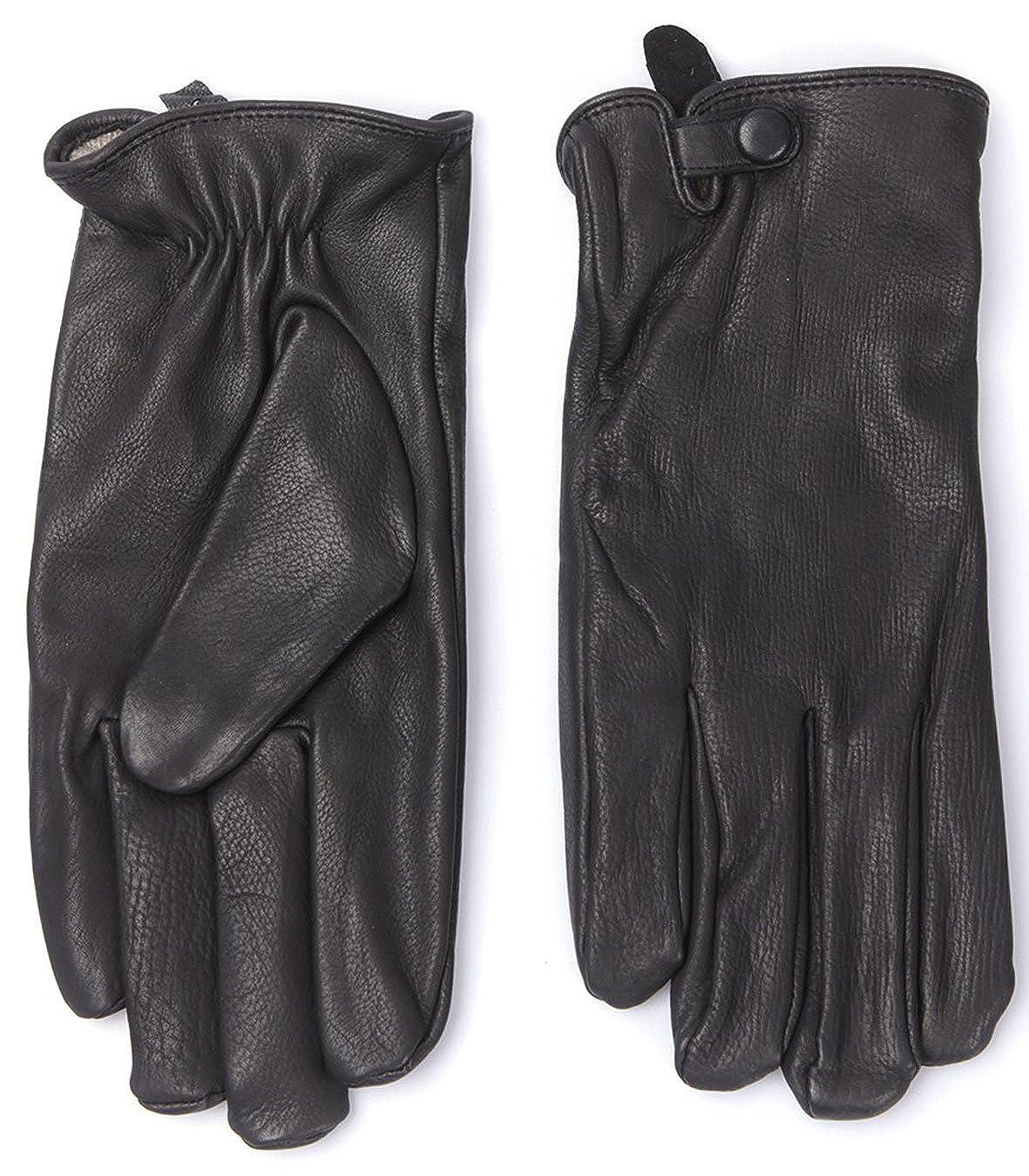 09ffaf18ff Lacoste Pour Homme Gants en cuir véritable noir rv4053 Doublure en cachemire  - Noir - Taille M/L: Amazon.fr: Vêtements et accessoires