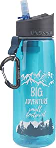 LifeStraw Go Water Filter Bottle with 2-Stage Integrated Filter Straw for Hiking, Backpacking, and Travel