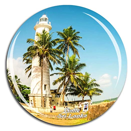 Weekino Light House Galle Fort Sri Lanka Imán de Nevera Cristal de ...