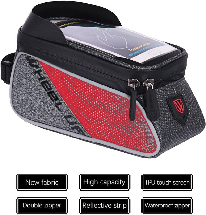 SZSMD Cycling Bicycle Frame Bag Top Tube Frame Bag for most types of bikes 2 in 1 Waterproof Cycling Phone Holder