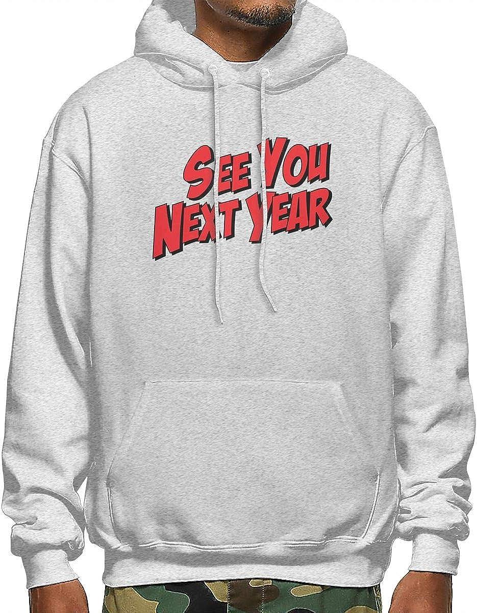 YaToDa Red Words Pocket Pullover Sweatshirt for Adult Mens.