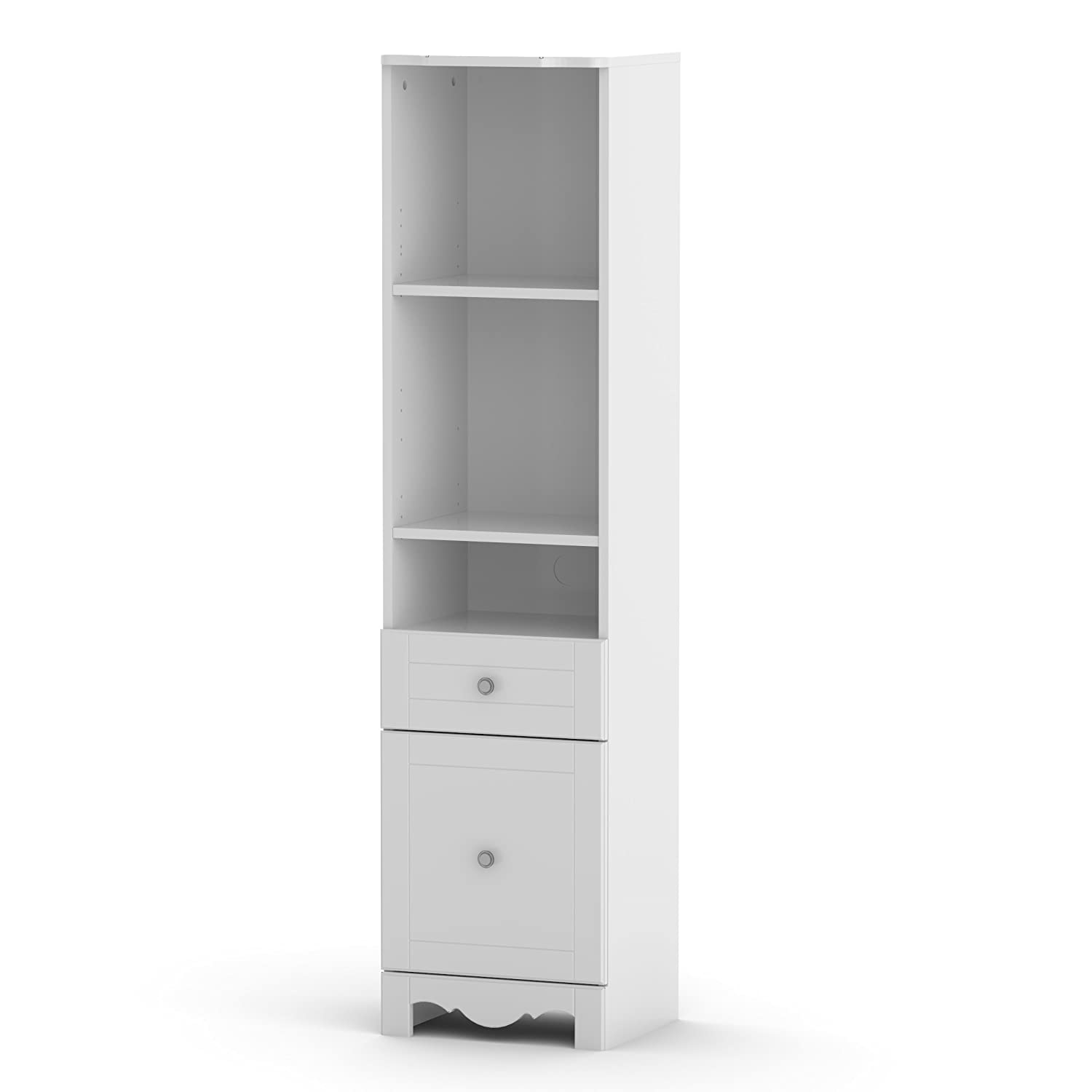 Pixel 60-inch Bookcase Tower 314303 from Nexera, White