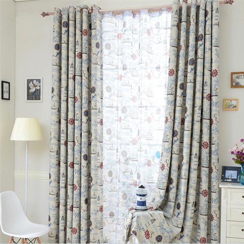 clichtg algodón y cortina de lino bordado cortinas schwebenden cortinas dibujos animados Cortinas Adecuado para salón dormitorio habitación de los Niños 245 x 140 cm ( Toalla cortinas ): Amazon.es: Bebé