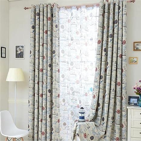 clichtg algodón y cortina de lino bordado cortinas schwebenden ...