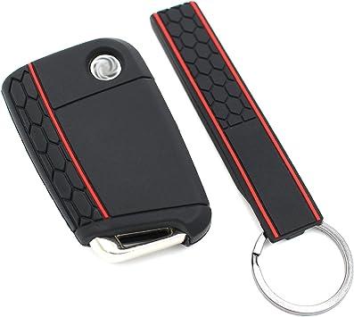 Schlüssel Hülle Keytag Vb Für 3 Tasten Auto Schlüssel Silikon Cover Von Finest Folia Schwarz Auto