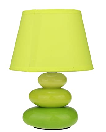 Avec De » 3 Vert Chevet Lampe « Lena Pierres mvnN80wO