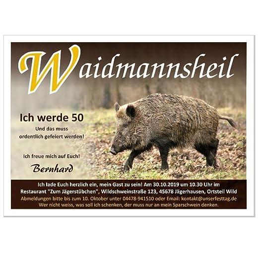 Einladungskarten Zum 40 50 60 Geburtstag Fur Jager Und Alle