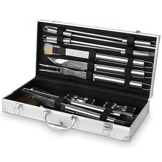 58 opinioni per Broil-master Set accessori posate barbecue grigliata kit accessori barbecue in