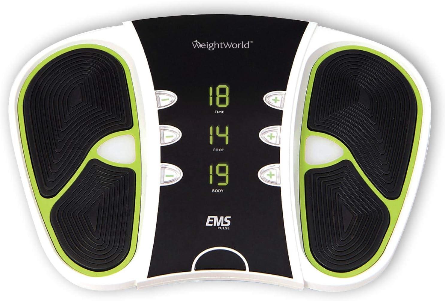 Estimulador Circulatorio Eléctrico - Mejora Circulación Piernas, Masajeador Impulsos Eléctricos, Alivia El Dolor, Electroestimulador Muscular Piernas y Cuerpo, Control Remoto 99 niveles intensidad